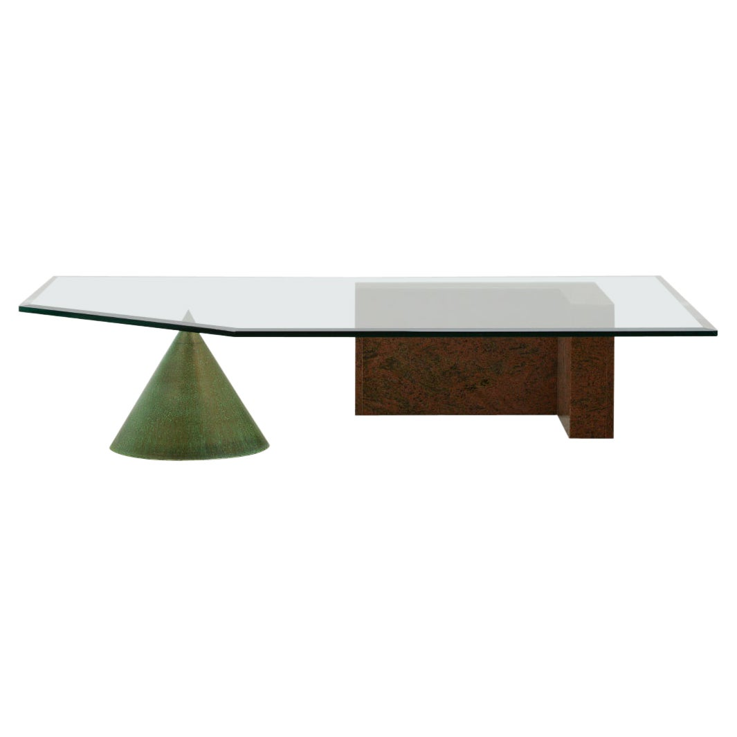 """Large """"Kono"""" Coffee Table by Lella & Massimo Vignelli for Casigliani"""