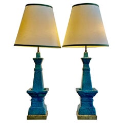 Pair of Architectural Bitossi Lamps