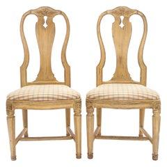 Late 18th Century Swedish Pair Og Gustavian Chairs, Sweden, circa 1780-1800
