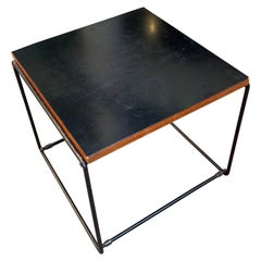 Pierre Guariche Reversible Side Table Black, Circa 1975