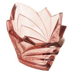 Art Deco Bohemian Crystal Glass Bowl