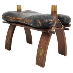 Egyptian Vintage Camel Saddle Stool