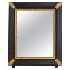 Large 19th Century Italian Ebonised & Gilded Mirror