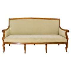 French Louis Philippe Walnut Sofa or Banquette French 19 th Midcentury