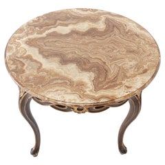 1940s Italian Table with Onyx Top