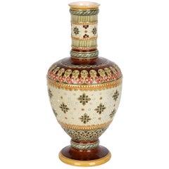 Villeroy Boch Mettlach Art Nouveau Stoneware Pedestal Vase