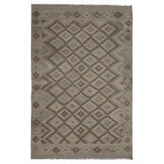 Grey Kilim Rug Traditional Carpet Kilim Scandinavian Style Brown Khaki Area Rug