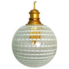 Large Suspension Lamp Chandelier Murano Glass Stilux, 1970s
