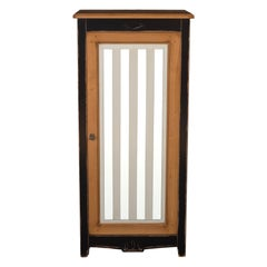French Bonnetiere in Cherry, 3 Shelves, Customizable Colours and Door Pattern
