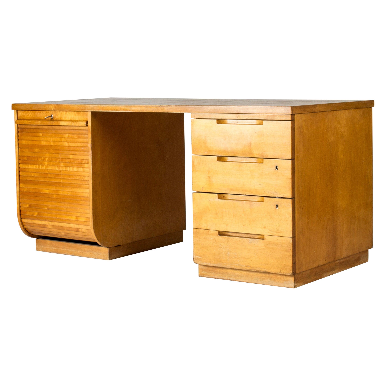 Functionalist Birch Desk by Alvar Aalto for Artek, Finland, 1930s