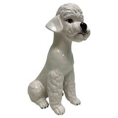 Italian Poodle Ceramic Dog Statue Figurine Vintage, 1980s