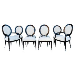 Set of 8 Ballonback Chairs, 6 Side Chairs & 2 Armchairs