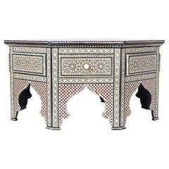 Moorish Style Inlaid Coffee Table