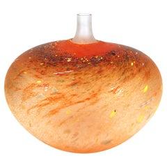 Bertil Vallien Kosta Boda Studio Art Glass Vase