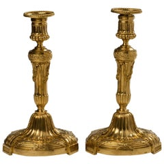 Pair of Louis XVI Style Ormolu Candlesticks
