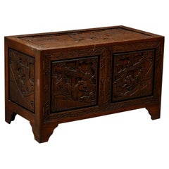 Chest, China, Camphor Wood Richly Carved