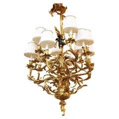 Continental Baroque Style Ormolu Chandelier