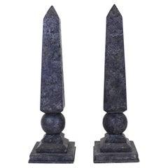 Neoclassical Revival Style Obelisks