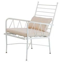 Mid-Century Modern Vintage Garden Iron Chair