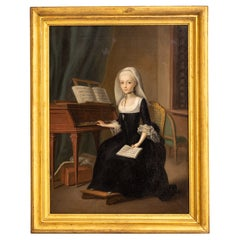 Young Widow at the Piano, 2nd Half of 18th Century