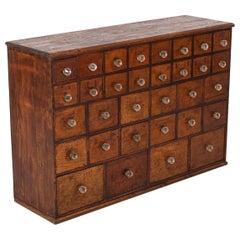 19thC English Mahogany Apothecary Cabinet