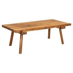 Rustic Coffee Table Vintage Plank Work Table