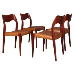 N. O. Møller Set of Four Dining Chairs