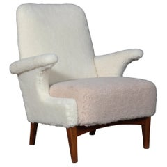 Fritz Hansen, Lounge Chair Lambwool, 1950s
