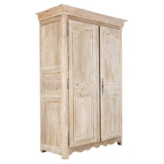 18thC French Bleached Walnut Armoire