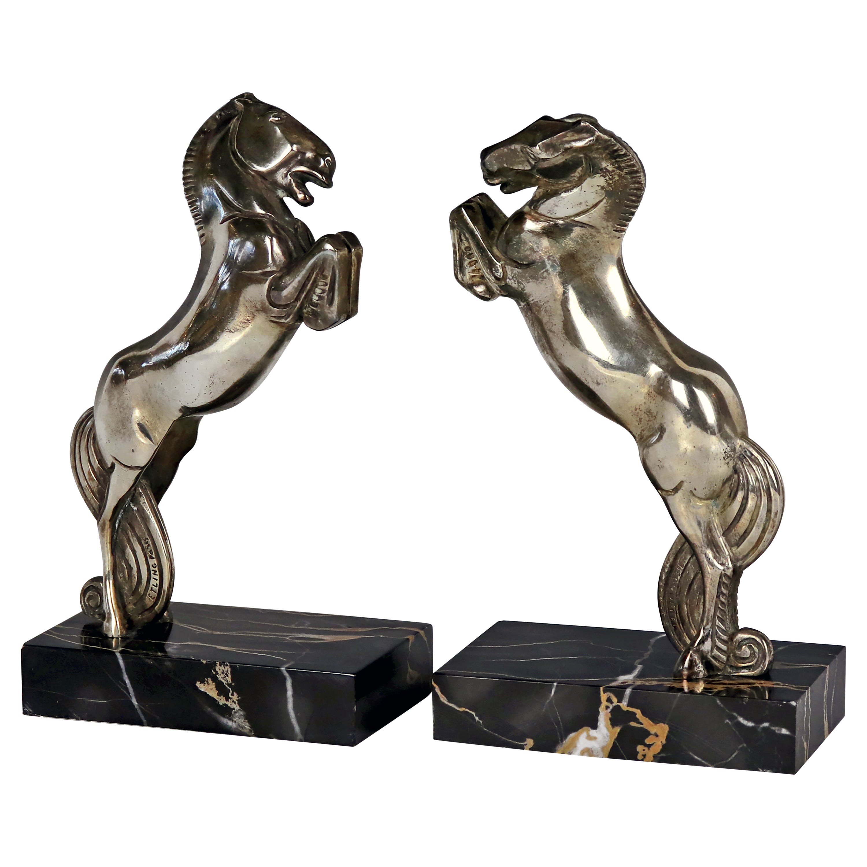 Art Deco Pair of Bookends by André Vincent Becquerel