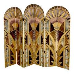 Art Deco Style Screen After William Van Alen, Chrysler Building Elevator Designs