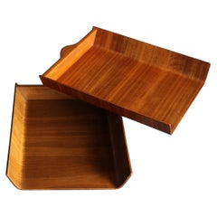 Florence Knoll Molded Plywood Architectural Letter Tray, circa 1960