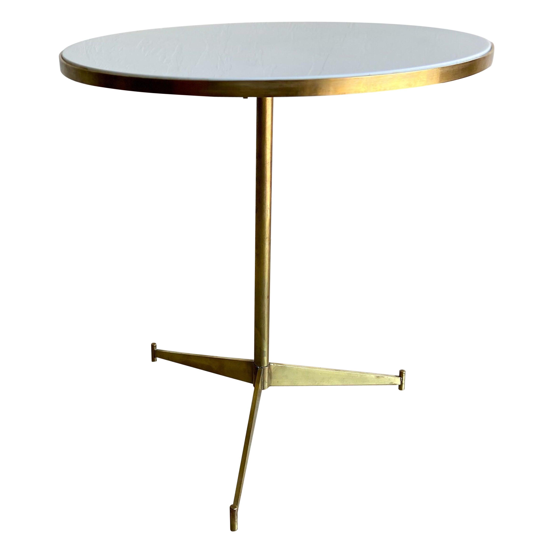 Paul McCobb for Directional Brass and Vitrolite Cigarette Table