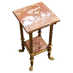 Victorian Aesthetic Plant Stand W/ Marble Top