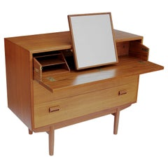 Danish Modern Teak Vanity / Secretary Dresser by Borge Mogensen for Neils Vodder