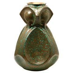 Art Nouveau Ceramic Vase Stamped 0507 Austria Excellent Condition