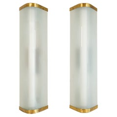 Midcentury Pair of Extra-Large Modern Wall Lamps Attributed to Asea