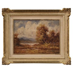 20th Century Oil on Canvas French Landscape Signed Painting, 1960