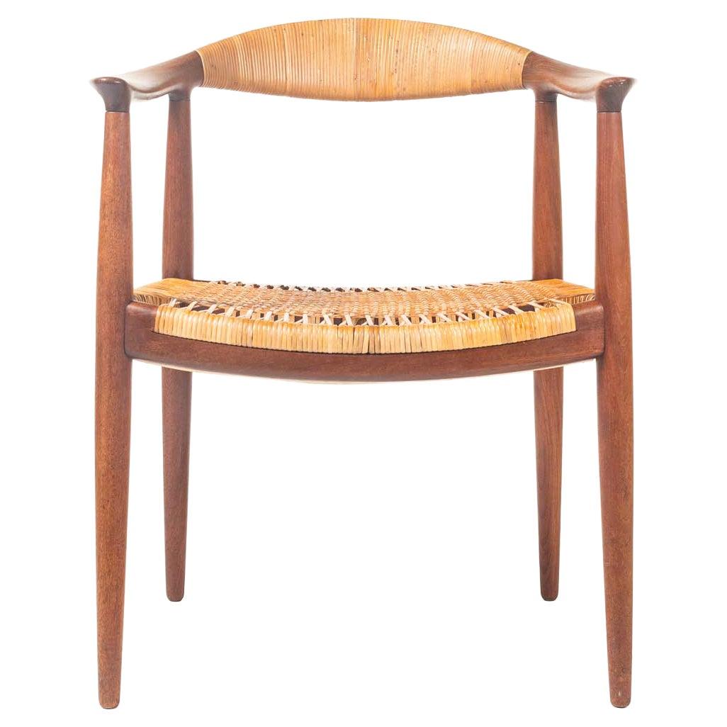 """Hans Wegner JH501 """"The Chair"""" in Teak & Cane"""