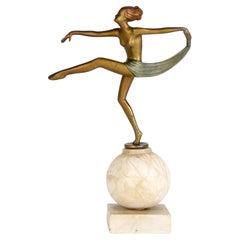 Josef Lorenzl Art Deco Cold Painted Dancing Sculptural Figure