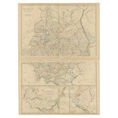 Set of 2 Antique Maps of Russia in Europe by W. G. Blackie, 1859