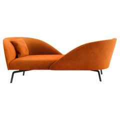 Face to Face Orange Sofa