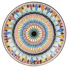 Ceramica D'Amore Vietri Mid-Century Italian Painted Pottery Plaque