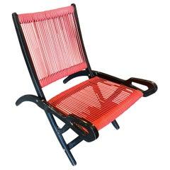 1970s Ninfea Folding Armchair by Giò Ponti for Reguitti