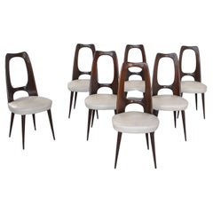 Vittorio Dassi Set Eight Chairs from Late 60's