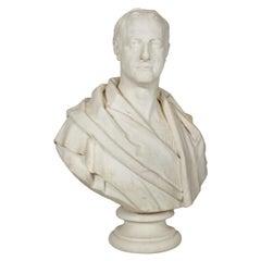 """Antique English """"Bust of a Gentleman"""" by Samuel Joseph"""