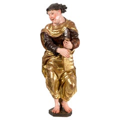 """Sculpture in Gilded and Polychrome Wood, """"Evangelist"""", Berruguete's Environment"""