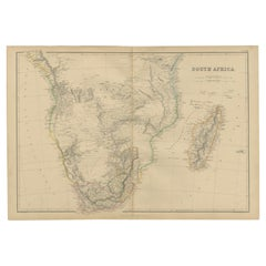 Antique Map of South Africa by W. G. Blackie, 1859