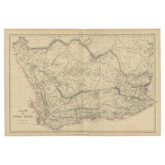 Antique Map of the Cape of Good Hope by W. G. Blackie, 1859