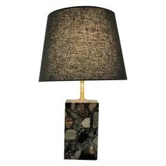 Norwegian Rectangular Stoneware `Conglo` Tablelamp 1980s